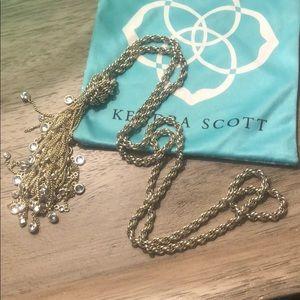 Kendra Scott  Necklace long Sloane lariat tassel